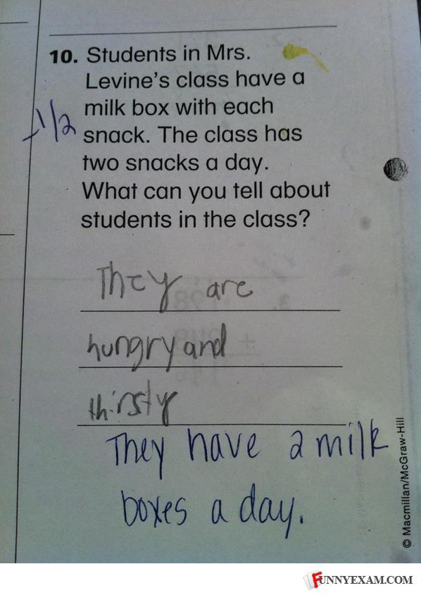 - Now how come the kid only got it HALF wrong?!? It'