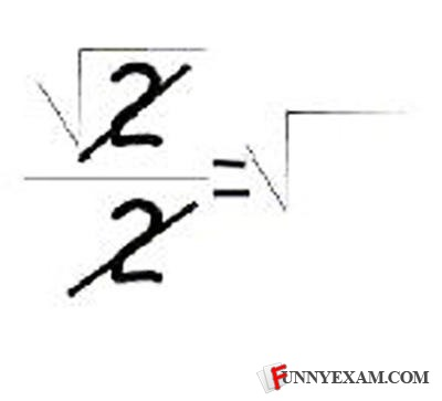 - split the denominator (rt 2)/(rt 2 * rt 2) and sim